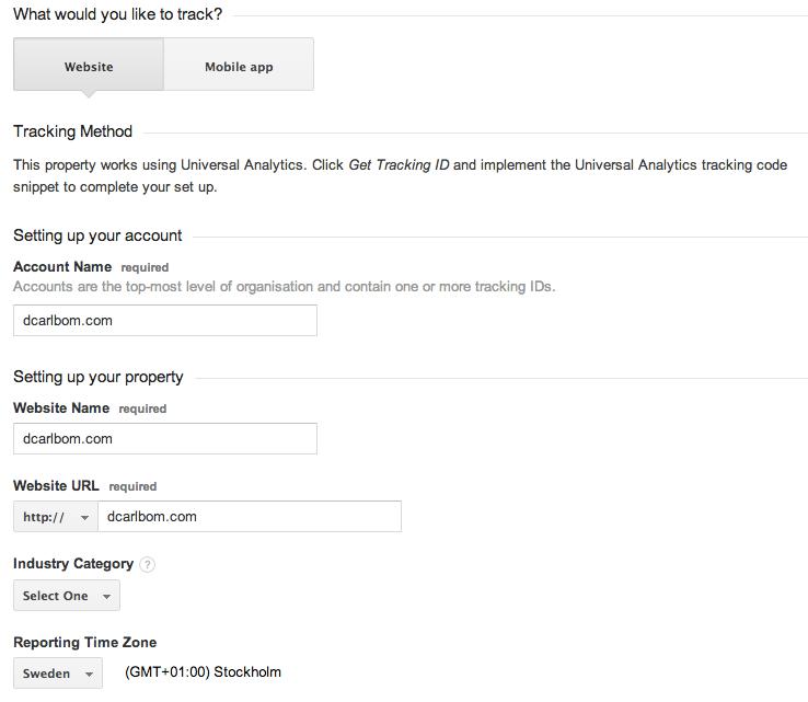 Create Google Analytics Account #2