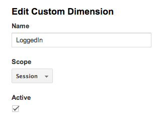 Google_Analytics Edit Custom Dimension