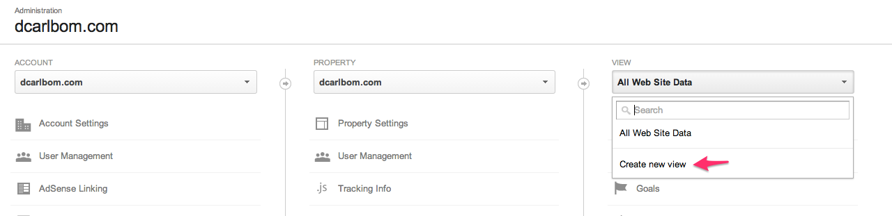 Google_Analytics New View
