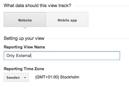 Google_Analytics Only External Filter