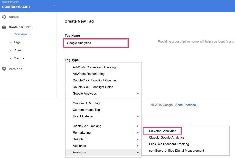 Google_Tag_Manager Tag Creation