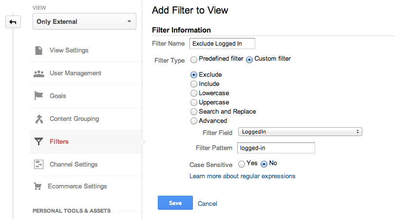 Google_Analytics Exclude Filter