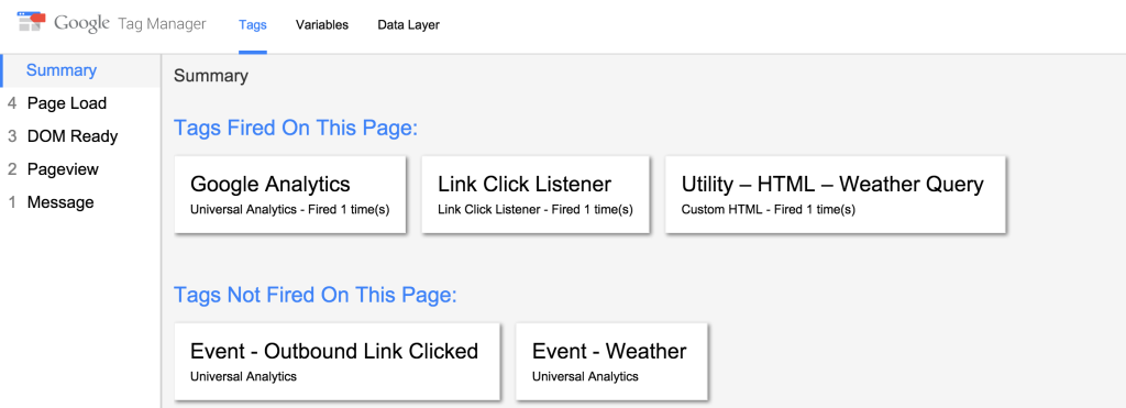 Google Tag Manager Debugging