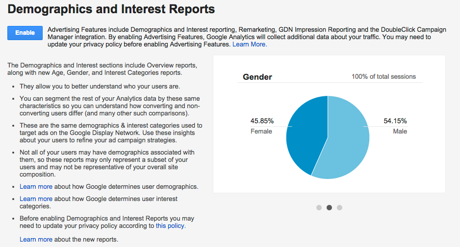 Demographics and Interest in GA - Enable