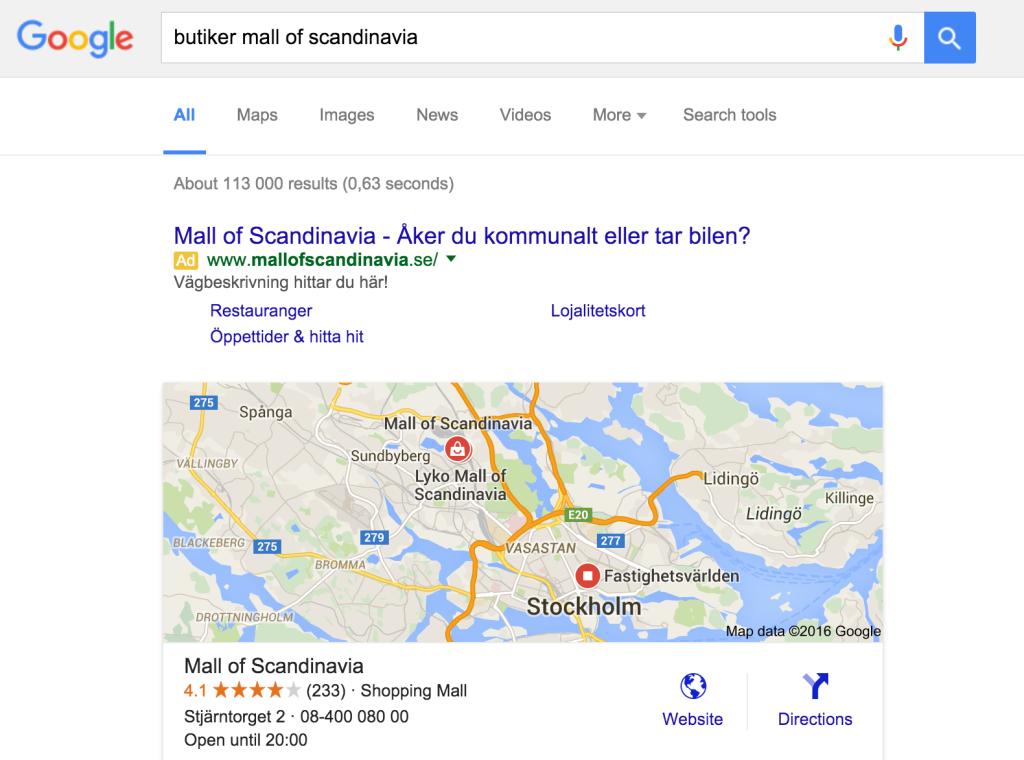 mall of scandinavia, really?