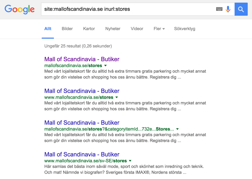 mall of scandinavia stores serp