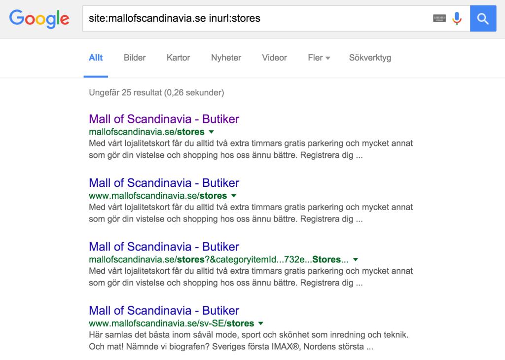 mall of scandinavia stores serp