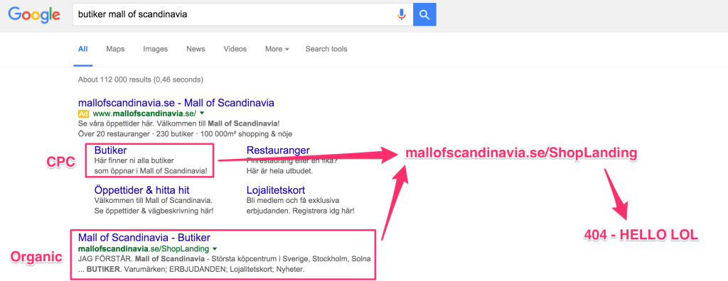 butiker-mall-of-scandinavia-google-serp