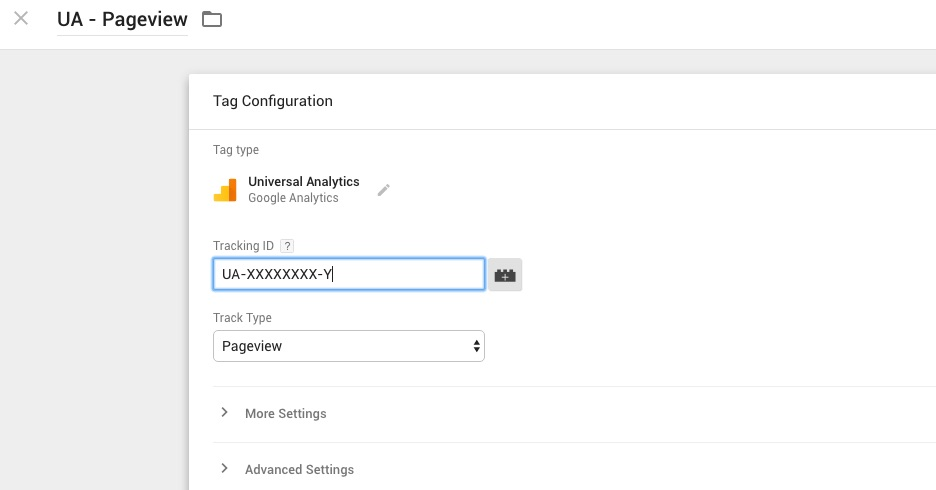 Google Tag Manager - Create Tag