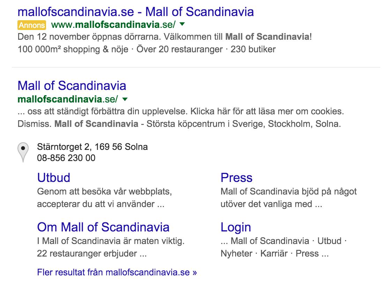 Mall Of Scandinavia Did You Forget Your Site Dcarlbom Com